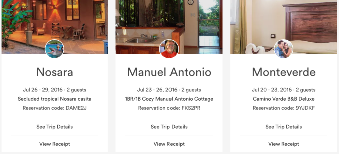 airbnb trips screenshot