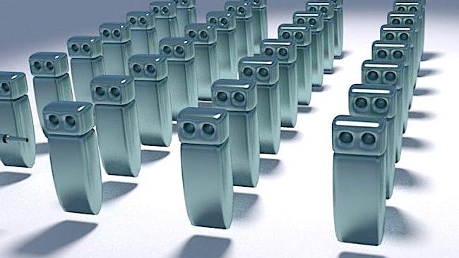 robots alineados